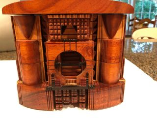 Po Shun Leong 1993 Hand Crafted Wood Jewelry Box Signed 1993 2