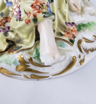 19THC MEISSEN PORCELAIN FIGURAL GROUP RARE FOR RESTORATION 12