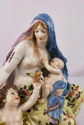 19THC MEISSEN PORCELAIN FIGURAL GROUP RARE FOR RESTORATION 2