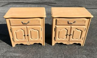 Ethan Allen Country French Maple Nightstands