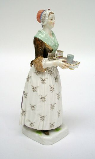 Meissen Porcelain Figure Of The Chocolate Girl By Liotard (helmig Design C.  1901)