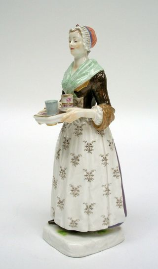 MEISSEN PORCELAIN FIGURE OF THE CHOCOLATE GIRL BY LIOTARD (HELMIG DESIGN c.  1901) 3