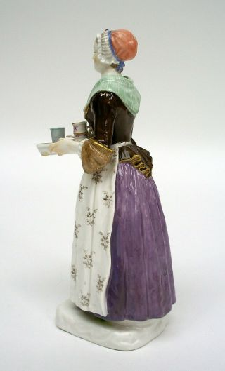 MEISSEN PORCELAIN FIGURE OF THE CHOCOLATE GIRL BY LIOTARD (HELMIG DESIGN c.  1901) 4