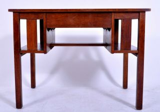 Antique L & J.  G.  Stickley Handcraft Mission oak Arts & Crafts desk library table 3