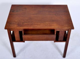 Antique L & J.  G.  Stickley Handcraft Mission oak Arts & Crafts desk library table 7