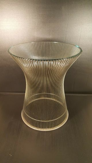 Warren Platner For Knoll Wire & Glass Round Side Table