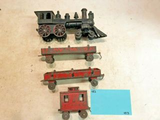 Vintage Toys Wilkins Hubley Ives Kenton Parts,  Train Engine & Cars,  Cast Iron
