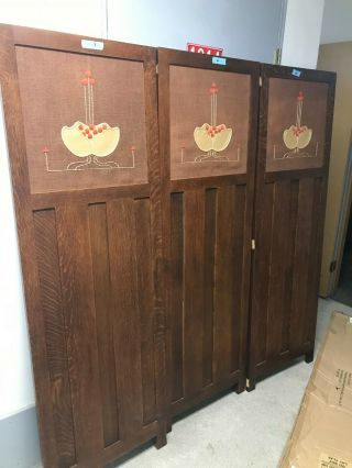 Stickley Vanity Screen; Oak Panels; Collectors Edition; Onondaga Finish
