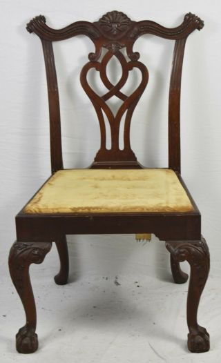 Georgian Furnishing Co Chippendale Style Mahogany Dining Chair Claw And Ball
