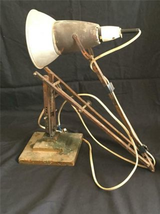 Rare Early 3 Step Herbert Terry Anglepoise Lamp 1227 - For Restoration