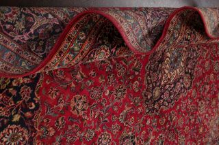 10x13 SEMI - ANTIQUE TRADITIONAL FLORAL ORIENTAL AREA RUG RED HAND - KNOTTED WOOL 12