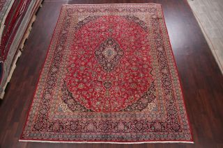 10x13 SEMI - ANTIQUE TRADITIONAL FLORAL ORIENTAL AREA RUG RED HAND - KNOTTED WOOL 3