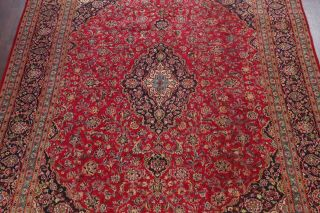 10x13 SEMI - ANTIQUE TRADITIONAL FLORAL ORIENTAL AREA RUG RED HAND - KNOTTED WOOL 4