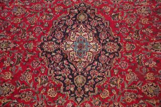 10x13 SEMI - ANTIQUE TRADITIONAL FLORAL ORIENTAL AREA RUG RED HAND - KNOTTED WOOL 5