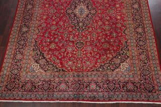 10x13 SEMI - ANTIQUE TRADITIONAL FLORAL ORIENTAL AREA RUG RED HAND - KNOTTED WOOL 6