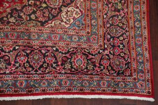 10x13 SEMI - ANTIQUE TRADITIONAL FLORAL ORIENTAL AREA RUG RED HAND - KNOTTED WOOL 7