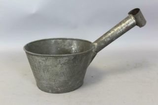 A Rare 19th C Enfield Ct Shaker Tin Measure - Dipper In The Best Surface