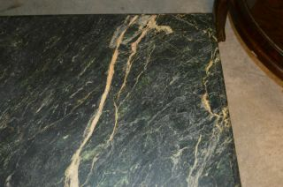 Indonesian Green Marble Top Coffee Table with Ball and Claw Feet 4