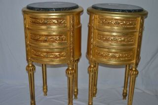 Gold Nightstands Lxvi Style Bedside Tables