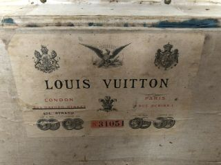 Early Antique Louis Vuitton Steamer Trunk (early 1800s)