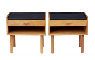 Oak Bedside Tables Designed By Hans J Wegner For Ry Mobelfabrik