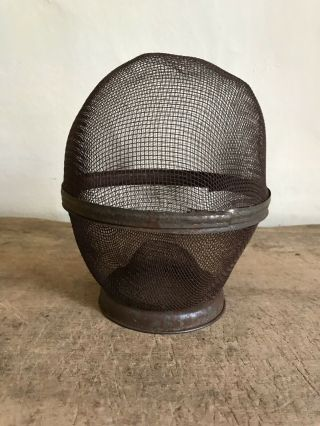 Rare Old Antique Screen Mesh Fly Trap Catcher Patina Aafa