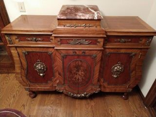 Stunning Antique French Victorian Sideboard Buffet,  1880