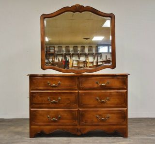 Ethan Allen Country French Dresser & Mirror