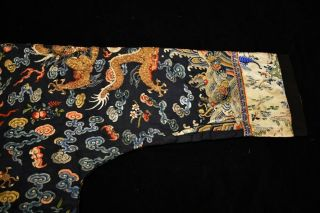 Antique Qing Dynasty Chinese Silk Embroidery Dragon Robe Rank Badge 4