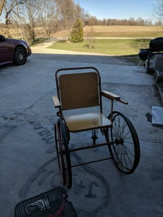 Antique Wooden Wheelchair Vintage