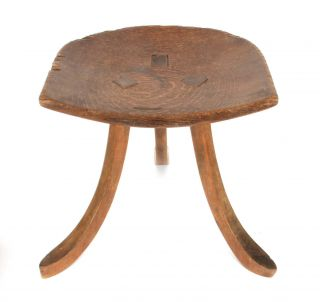 Liberty & Co Arts And Crafts Oak Thebes Stool Christopher Dresser Labelled