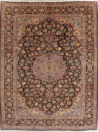 Traditional Floral Area Rug Hand - Knotted Oriental Wool Carpet 10 X 13 Blue Rugs