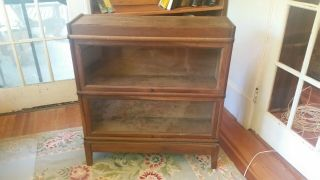Antique Two Section Oak Stacking Barrister Lawyers Bookcase Macey 811,  Finish 8
