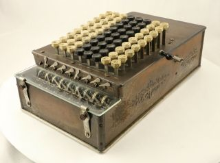 Comptometer Calculator Model A With Glass Front,  S/n 18206