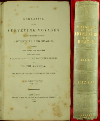 Darwin Narrative Surveying Voyages Adventure & Beagle 1839 Evolution 1st Ed Nr