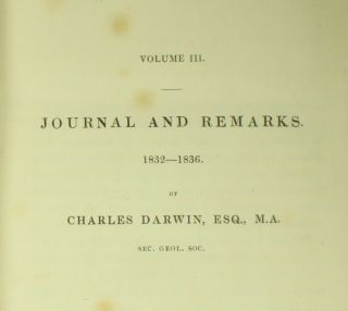 Darwin NARRATIVE SURVEYING VOYAGES ADVENTURE & BEAGLE 1839 Evolution 1ST ED NR 2