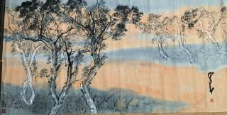 Rare Large Chinese Scroll Painting,  100 Hand Painting,  Signed Zhao Shao Ang.