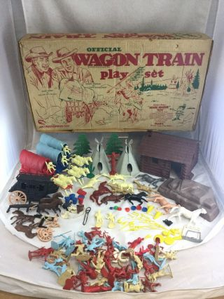 Vintage Marx Wagon Train Official Playset
