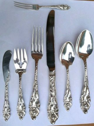 Four Sterling Silver Love Disarmed (7) Piece Place Settings - Reed & Barton