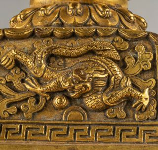 Chinese Antique Tibetan Style Gilt Bronze Seal 11