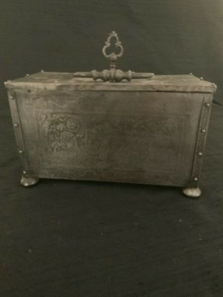17th Century Locking Mechanism Iron Box