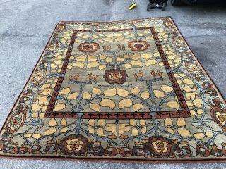 Auth: Vintage Voisey Arts And Crafts Rug TOP Quality Tufenkian Beauty 9x12 NR 3