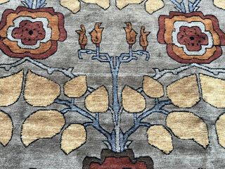 Auth: Vintage Voisey Arts And Crafts Rug TOP Quality Tufenkian Beauty 9x12 NR 6
