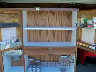 Antique Oak Hoosier Cabinet Sellers Brand 10