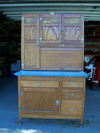 Antique Oak Hoosier Cabinet Sellers Brand 2