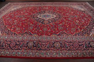 4th Of July Deal Vintage 10x13 Traditional Floral Oriental Area Rug Hand - Knotted
