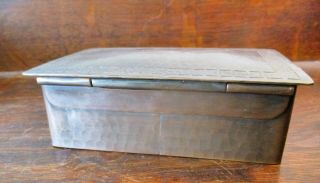 DIRK VAN ERP BOX WITH DECORATIVE ARTS AND CRAFTS BORDER ON THE LID 5