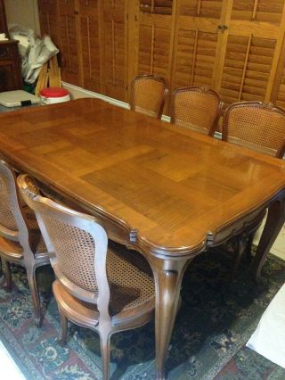 French Antique Louis Xv Draw Leaf Table With Chairs