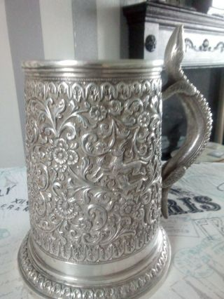 Quality Indian Antique Solid Silver Cup 6inch H