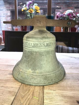Antique Bronze Bell Mears And Stainbank 1872